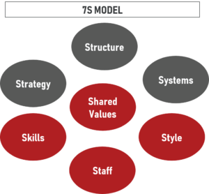 Graphic of the McKinsey 7S Framework